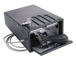 GunVault MiniVault Deluxe Handgun Safe, 8.1x4.9x12in with Motion Detector - GV1000C-DLX