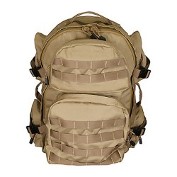 VISM Tactical Back Pack w/PALS Webbing - Tan CBT2911