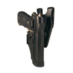 BlackHawk Level 2 SERPA Auto Lock Duty Holster - Right Hand, For Glock 20/21 & S&W MP Pistol 44H013BK-R