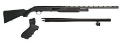 "Mossberg Maverick 88 Field & Security Pump Action Shotgun Combo Black 12 Ga 28 and 18.5"" Barrels 6 rd 3"" Chamber"