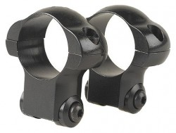 Redfield Ruger M77 Riflescope Steel Rings - 1in, Medium, Black - 47234