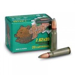 Brown Bear, 7.62x39, SP, 125 Grain, 20 Rounds