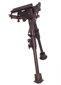 Harris Engineering Ultralight Hinged Base 6-9 Inch Bipod, Black BR