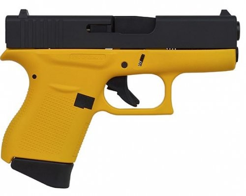 GLOCK 43 9MM 3.39 FS 6R YELLOW FRAME BLK SLIDE