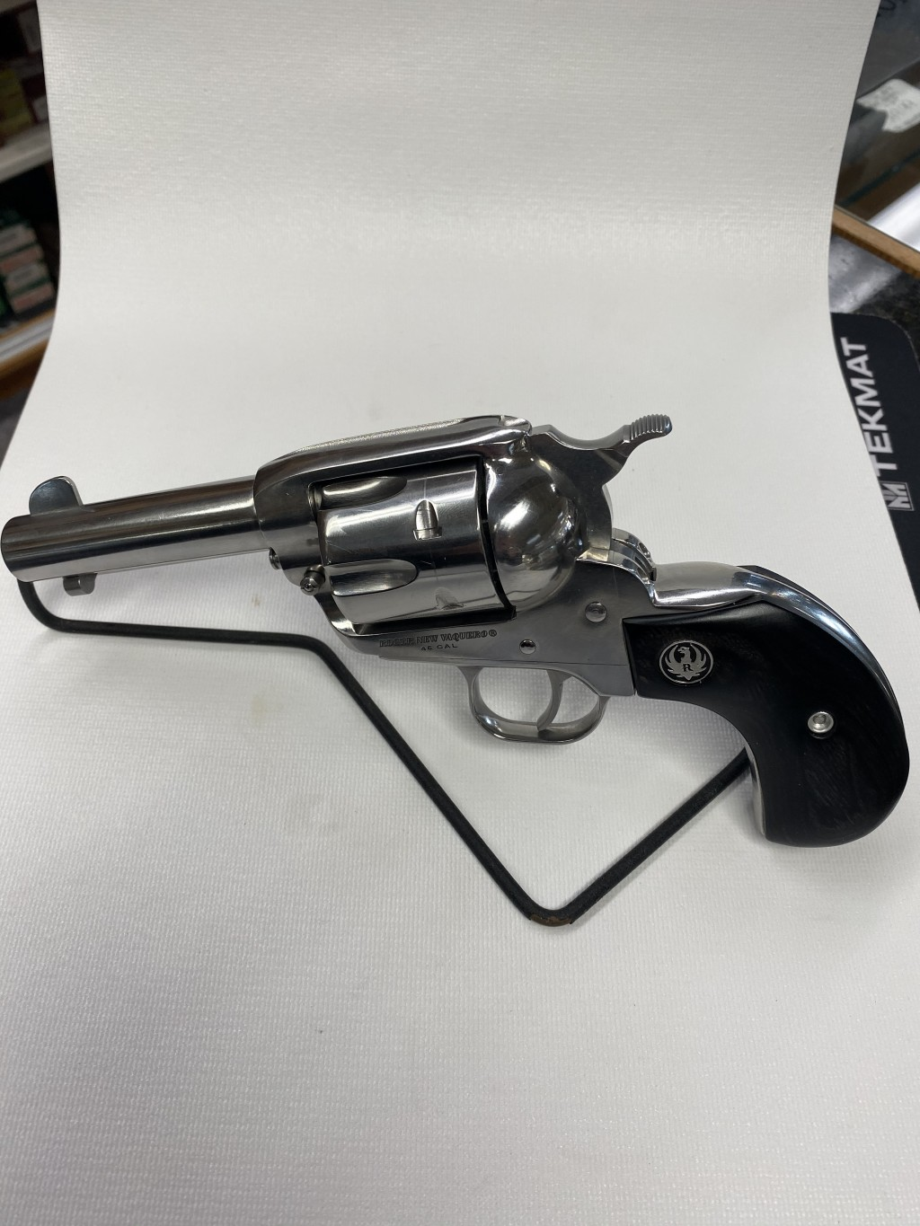 USED RUGER VAQUERO 45LC 3.7 REVOLVER  **PRE-OWNED, NEVER FIRED**