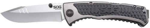 SOG Specialty Knives SideSwipe Mini, 3-inch Blade Length, Straight Edge, Clip Po