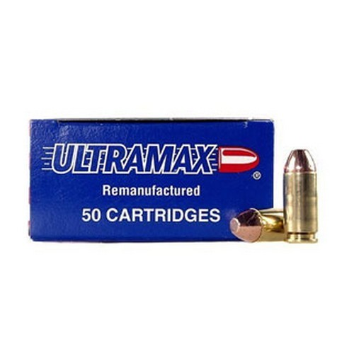 Ultramax 40R5 40 Smith & Wesson Remanufactured 180 Grains, Full Metal Jacket, Per 50