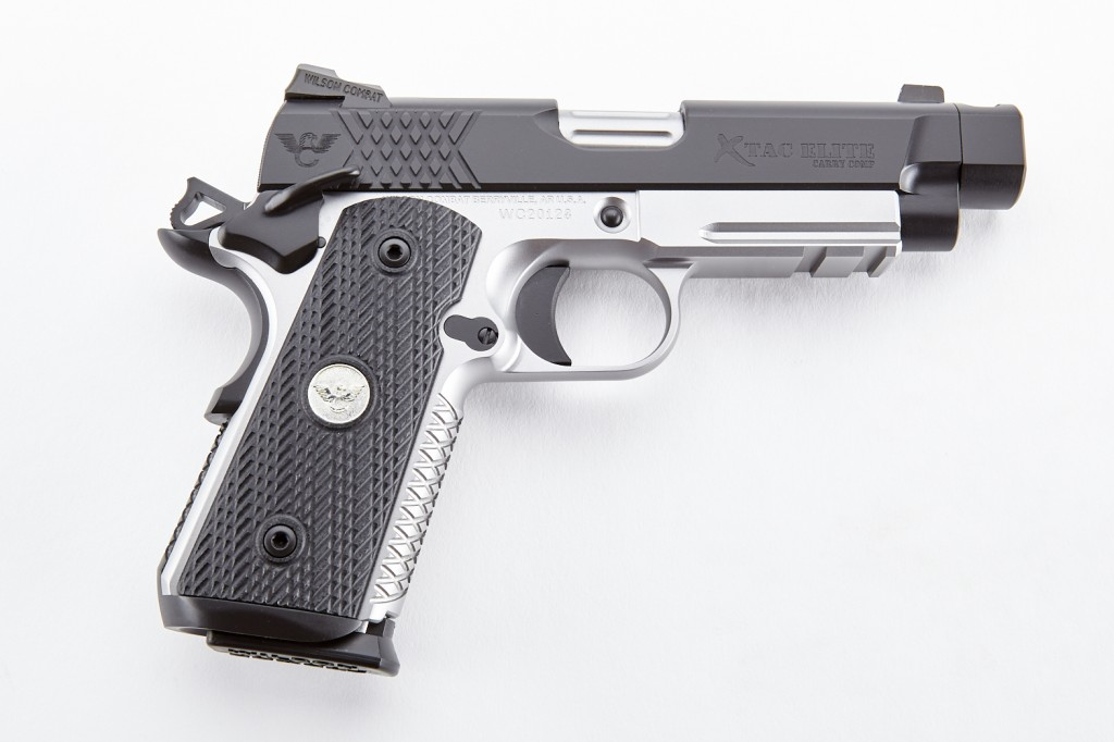 Wilson Combat X-TAC Elite Carry Comp, Compact, Light-Rail Upgrade, 9mm, Two-Tone, Black/Stainless