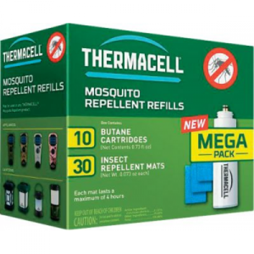 ThermaCell Mosquito Repellent Mega Value Pack Replacement Mats and Butane Cartridges - Yellow