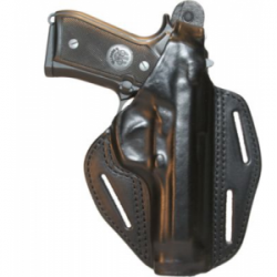 BLACKHAWK! Three-Slot Leather Pancake Holster Right Hand