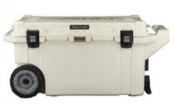 Pelican Cooler 80 Qt White With Wheels