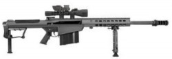 Barrett Firearms M107A1 Rifle .50 BMG 20in Fluted 10rd Black Leupold Mark 4 M1 BORS 14017
