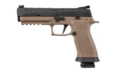 "Sig P320 Pistol 320X59RTASCOY, 9mm Luger, 5"", Coyote Polymer Grips, Black Finish, 21 Rds"