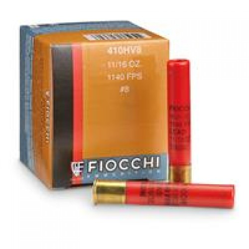 "Fiocchi, .410 Gauge, 3"" Shells, 11/16 oz., High Velocity Loads, 25 Rounds"