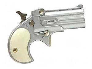 "Cobra Enterprises C22 Derringer .22 Long Rifle 2.4"" Barrels 2 Rounds Pearl Grips Satin Nickel Finish"