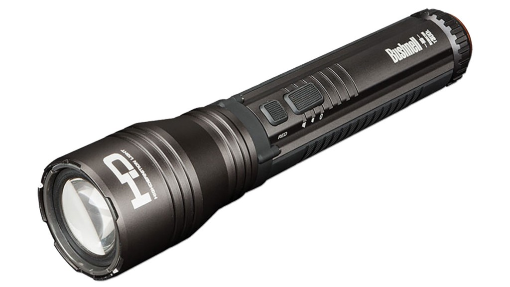 Bushnell Rubicon Flashlight 4AA, HD Torch, Red Halo, Grey