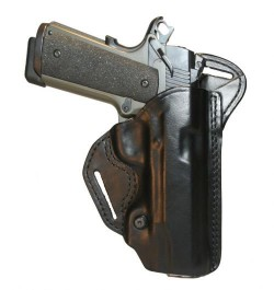 BLACKHAWK! Leather Check-Six Holster Right Hand - Black