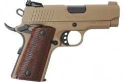 "Europea American Armory MC1911SC Officer 45 ACP 3.33"" Barrel 6+1 Round Capacity Flat Dark Earth Finish"