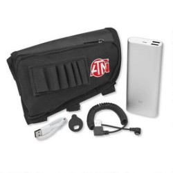 ATN Extended Power 20,000 mAh Battery Kit, w/Cable & Buttstock Pouch ACMUBAT160