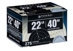 Federal Range Pack .22LR LRN 40 Grain 275 Rounds