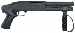Mossberg 500 Compact Cruiser AOW. Pump Action, 12 Gauge, 8in Barrel, Black, Pistol Grip, 2 Rounds, Cylinder 51697