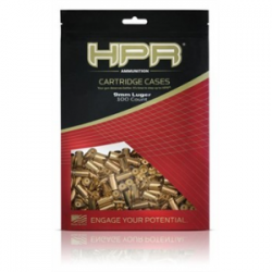 HPR Ammo Unprimed Brass Rifle Cartridge Cases 9mm Luger 100/Bagged