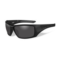 Wiley X Nash Sunglasses, Matte Black Frame/ Clear, ACNAS01