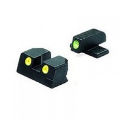 Meprolight Tru-Dot Night Sights, Green/Yellow - Springfield XD 9mm, 40 4in & 5in