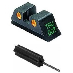 Meprolight TruDot Night Sight Set for Glock 9mm, .357 Sig, .40 S&W, & .45 GAP, Green Front/Orange Rear