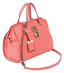 Bulldog Cases Satchel Series Concealed Carry Purse Coral