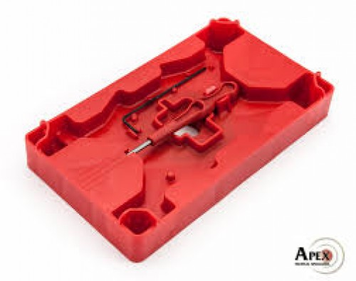Apex Tactical Specialties Armorer's Tray & Pin Punch, Polymer Red