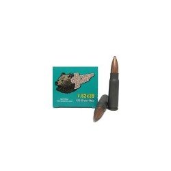 7.62X39 - 123 Grain FMJ - Polymer Coated - Brown Bear - 500 Rounds